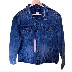 Ksubi NWT Distressed Oversized Denim Jacket